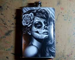 tattoo pin ups and day of the dead artwork and by neverdieart