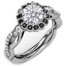 white and black diamond engagement rings black white polyvore