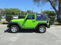 2012 gecko pearl jeep wrangler sport 4x4 suv lime green http