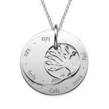Personalized Photo Jewelry 3 Colors Personalized Family Tree Necklace Forevermom Com