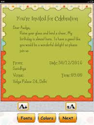 birthday invitation card maker android apps on play
