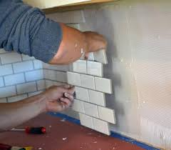 installing kitchen backsplash tile backsplash ideas how to lay backsplash tile easily installing