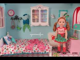Big Barbie Dollhouse Tour Youtube by American Doll Bedroom Wellie Wishers Youtube Dolls