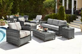 Pvc Outdoor Patio Furniture Chic Idea Grey Wicker Patio Furniture Weathered Gray Outdoor