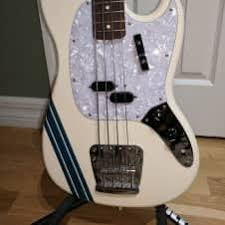 pawn shop mustang bass fender pawn shop mustang bass olympic white with competition reverb