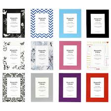 lifestyle brands magnetic photo frame 4 x 6 assorted colours
