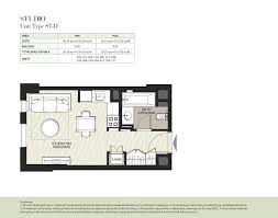 hayat boulevard by nshama 1 bedroom apartment type 1a 2 floor plan
