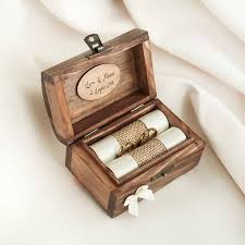 wedding rings in box best 25 wedding ring box ideas on ring bearer box