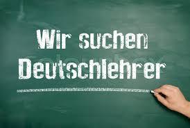 Seeking German On A Blackboard The Text Is Written We Are Seeking German