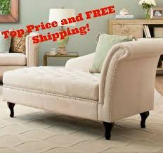 Bedroom Sofa Bench Storage Chaise Lounge Bedroom Accent Seat Tufted Cushion Bench