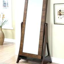 standing mirror jewelry cabinet awesome brilliant floor standing mirror floor mirror with storage