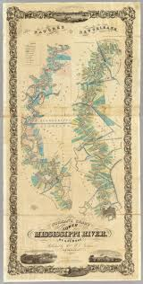 Louisiana Rivers Map Of The Lower Mississippi River Norman B M Persac A