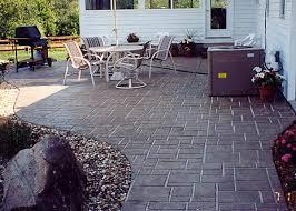 Backyard Stamped Concrete Patio Ideas Decorative Concrete Patios With Stamped Concrete Pool Patio