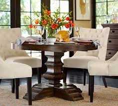 from pottery barn banks extending pedestal dining table grey wash pottery barn
