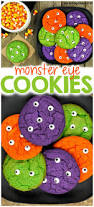 halloween monster eye cookies parenting chaos