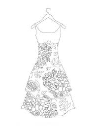 fashion design coloring pages beautiful dress is a part of our huge collection of coloring pages