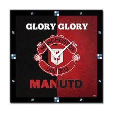 Manchester United Bed Linen - manchester united fc wall clock by bluegape clocks homeshop18