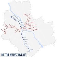 map underground map of warsaw metro subway underground stations lines