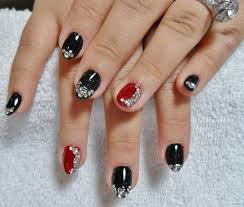19 gel nail designs with rhinestones gel nails with chevron
