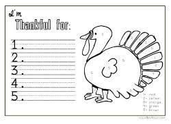 i m thankful coloring sheet placemat thanksgiving fall themes