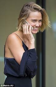hairstyles for giving birth stylish lara bingle returns to australia since giving birth to her