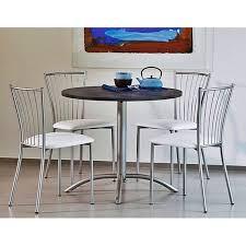 table ronde cuisine pied central de cuisine stratifiée ronde avec pied central laser