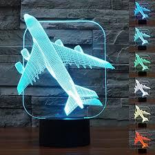 babygo desk lamp airplane shapes 3d optical illusion visu https