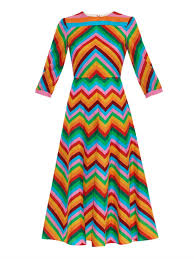 valentino 1973 rainbow midi dress in white lyst