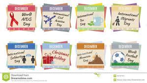 world holidays december stock vector image of calendar 34707191