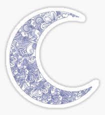 crescent moon design illustration gifts merchandise redbubble