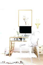 white and gold office desk white and gold office chair ghost desk chair on wheels ghost desk