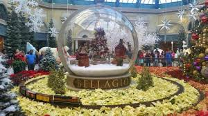Christmas Decorations In Garden by Christmas Decorations At The Bellagio Conservatory Picture Of