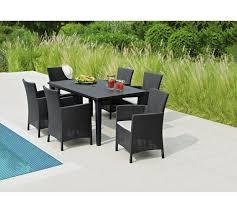 6 seater patio furniture set keter iowa rattan style 6 seater garden furniture dining set in