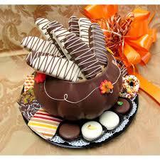 thanksgiving chocolate biscotti bowl