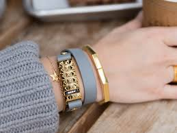 bracelet fitbit images Stud wrap bracelet in gold silver or rose gold for the fitbit png