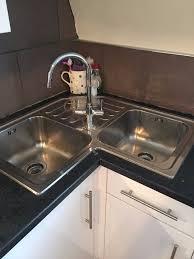 corner kitchen sink space new home design using a corner kitchen