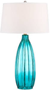 Blue Glass Table Lamp Possini Euro Miriam Blue Glass Table Lamp Amazon Com