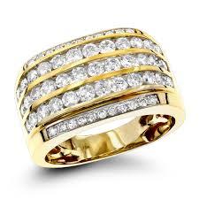 mens unique wedding ring 10k gold diamond mens ring 2 25ct unique diamond wedding band