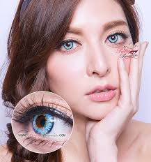 light blue cosplay contacts princess pinky twilight blue circle lenses colored contacts
