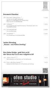 Brauwerk Bad Kreuznach Speise Und Getränkekarte Des Brauwerk In Bad Kreuznach By Etc Ag