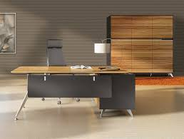 Modern Furniture Desks Unique Furniture 400 Collection Zebrano Desk 482 With Left Return