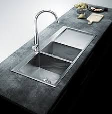 modern kitchen sink with drain boards and chrome faucet stacia s one piece custom kitchen stainless steel sink and counter