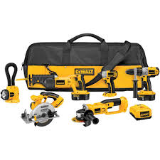 Woodworking Power Tools List by Dewalt 18 Volt Xrp Nicd Cordless Combo Kit 6 Tool With 2