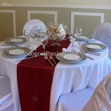 wholesale table runner buy burgundy satin table runners for