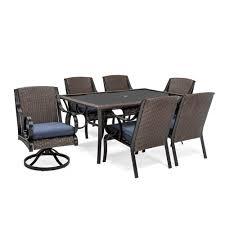 la z boy outdoor dkin 7pcb kinsley 7 pc dining set denim