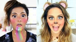 Youtube Halloween Makeup by Snapchat Filters Halloween Makeup Tutorial Youtube