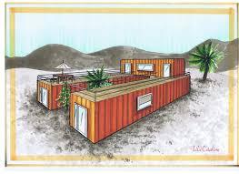 we like the idea of a u shaped house with the main house on one