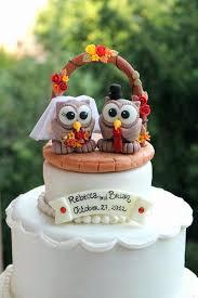 owl wedding cake topper 22 inspirational fall wedding cake toppers wedding idea