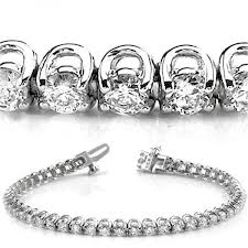 classic diamond bracelet images 8 ct round cut diamond tennis bracelet u prong 0 22 ct each jpeg