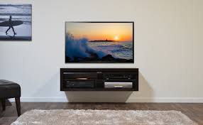 furniture room decorating ideas with small black floating tv